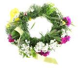 Flower wreath background — Stock Photo