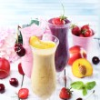 Delicious smoothie on table — Stock Photo #51271395