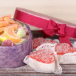 Present box with sweets — Stock Photo #51272191