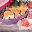 Present box with sweets — Stock Photo #51272203