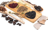 Chinese herbal medicine ingredients — Stock Photo