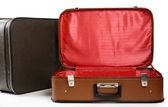 Vintage old travel suitcases — Stock Photo