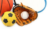 Different Sports equipment — Stock Photo