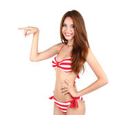 Beautiful young woman in swimsuit — Stock Photo