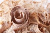 Wood shavings on sawdust — Stock Photo