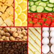 Collection of healthy fresh food backgrounds — Stock Photo #51433193