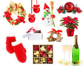 Jul och nyår dekoration samling — Stockfoto