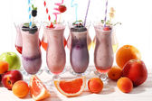 Delicious milkshakes, close-up — Stockfoto