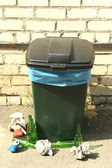 Recycling bin outdoors — Stock Photo