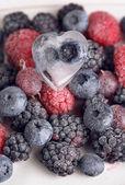 Frozen berries close-up — Stock Photo