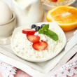 Delicious breakfast on table, close up — Stock Photo #51445555