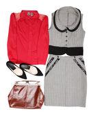 Ubranie ubrania i kobieta akcesoria — Zdjęcie stockowe