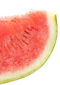 Fresh slice of watermelon, isolated on white — Foto Stock
