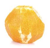 Orange without skin, isolated on white — Stock Photo
