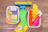 Temizlik ürünleri ve araçları, koleksiyon — Stok fotoğraf
