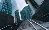 Stairs to Moscow International Business Center — Stock Photo