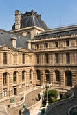 Courtyard of Louvre Museum in Paris — Stock Photo