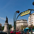 Stock Photo: Statue on Place de Clichy in Paris