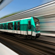 Stock Photo: Paris metro train