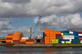 Containers at Rotterdam port — Stock Photo
