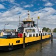 Ferry boat on the Nieuwe Maas river — Stock Photo