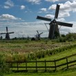 Stock Photo: Windmills in Kinderdijk