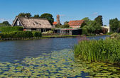 Architecture of Kinderdijk — Stock Photo
