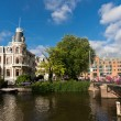 Dutch architecture in Amsterdam — Stock Photo
