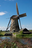 Windmill in Kinderdijk — Stockfoto