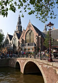 Old cathedral in Amsterdam — Stock fotografie