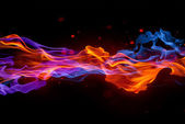 Blue and red fire — Stock Photo