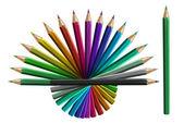 Lápices de colores aislados sobre fondo blanco — Foto de Stock