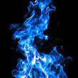 Flame burn blue background  — Stock Photo
