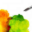 Brush and paint scratch — Stock Photo #30012551