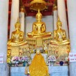 Foto de Stock  : Beautiful Buddhstatue from temple in Thailand.