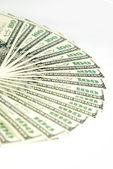 美元桩作为背景 — 图库照片