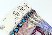 Background of English pound notes — Stockfoto