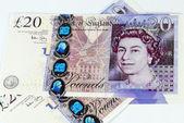 英语镑的钞票的背景 — 图库照片
