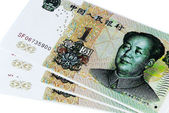Chinese banknotes — Stock Photo