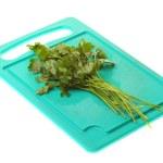 Twig of parsley isolated — Stock Photo