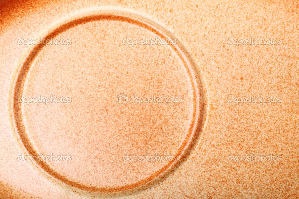 Brown ceramic saucer texture for background circle nobody — Stock Photo #13369051