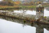 Danzig landmark Gdansk with Motlawa river Poland — Stock Photo