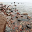 Fisherman Stones in sea water autumn - Stock Photo