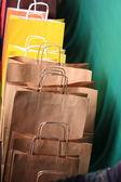 ペーパー ギフト バッグのショッピング — ストック写真