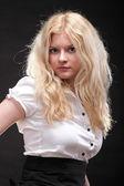 Portrait of beautiful blonde woman — ストック写真