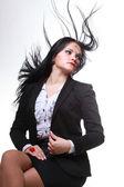 長い髪と美しい女性 — ストック写真