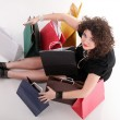 Stock Photo: Lovely womwith shopping bags