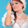 Beautiful ginger in dress of Snow Queen — Stock Photo #26823865