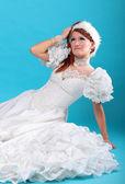 Kar kraliçesi elbise güzel zencefil — Stok fotoğraf