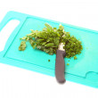Parsley isolated on board — Stock Photo